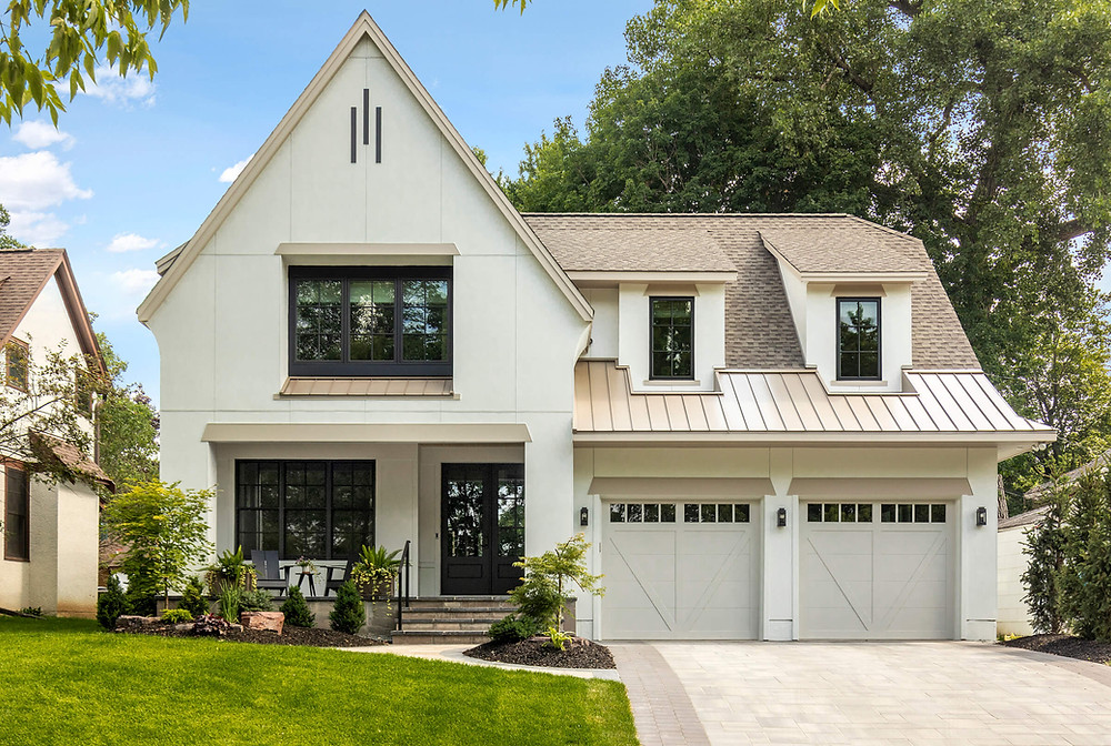 new construction home in the heart of Minneapolis, Modern Tudor aesthetic.