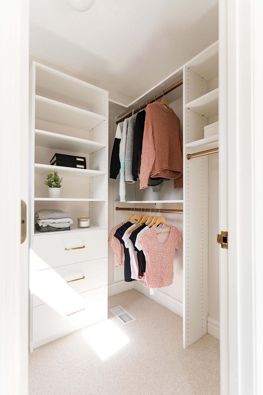 Built to Last custom closet organization systems for teen's walk-in closet