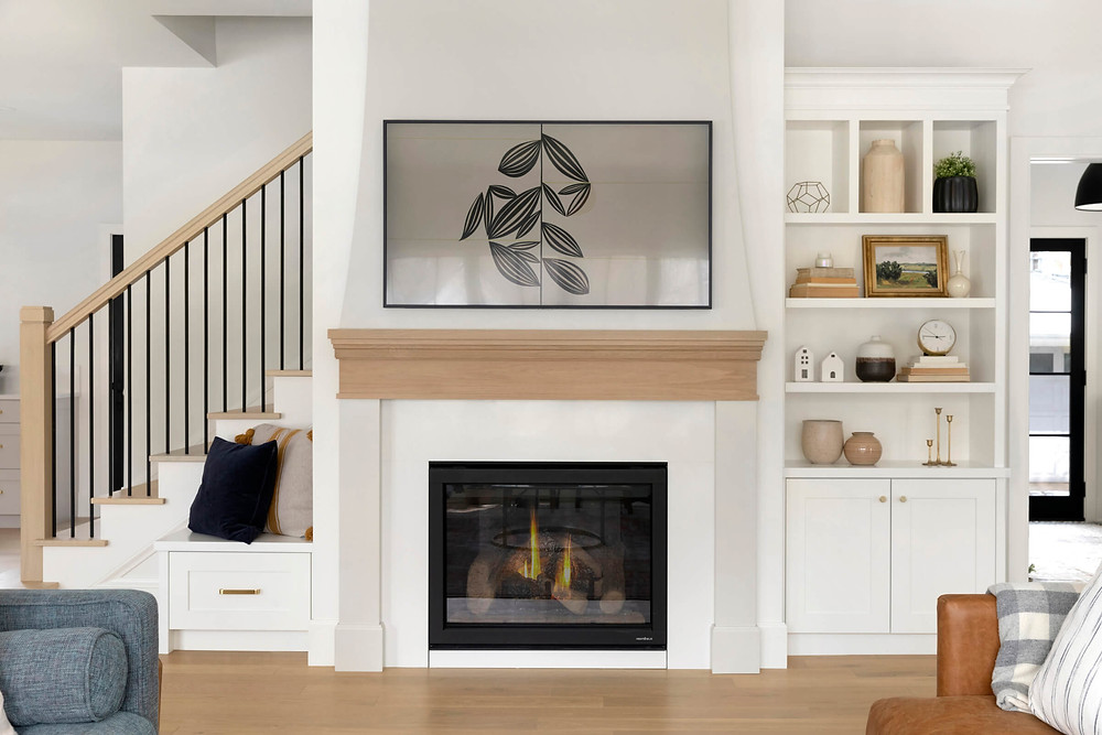 Uses of quartz material in your home, fireplace surround is a common install.