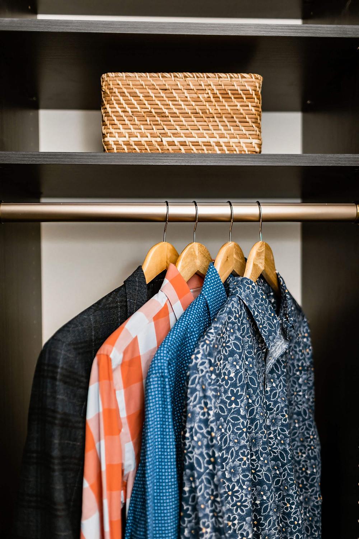 Tips for an Organized Closet, using custom closet solutions.