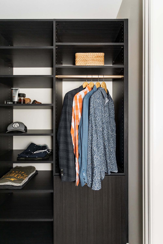Modern Tudor Owner's Suite Reveal, Custom Closets