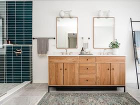 Mid-Century Scandinavian Owner's En Suite Bathroom Reveal