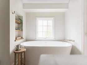 Live in the Details®: Classic + Contemporary Primary Bathroom Design