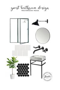 guest bathroom, bathroom design, modern bathroom design, timeless design
