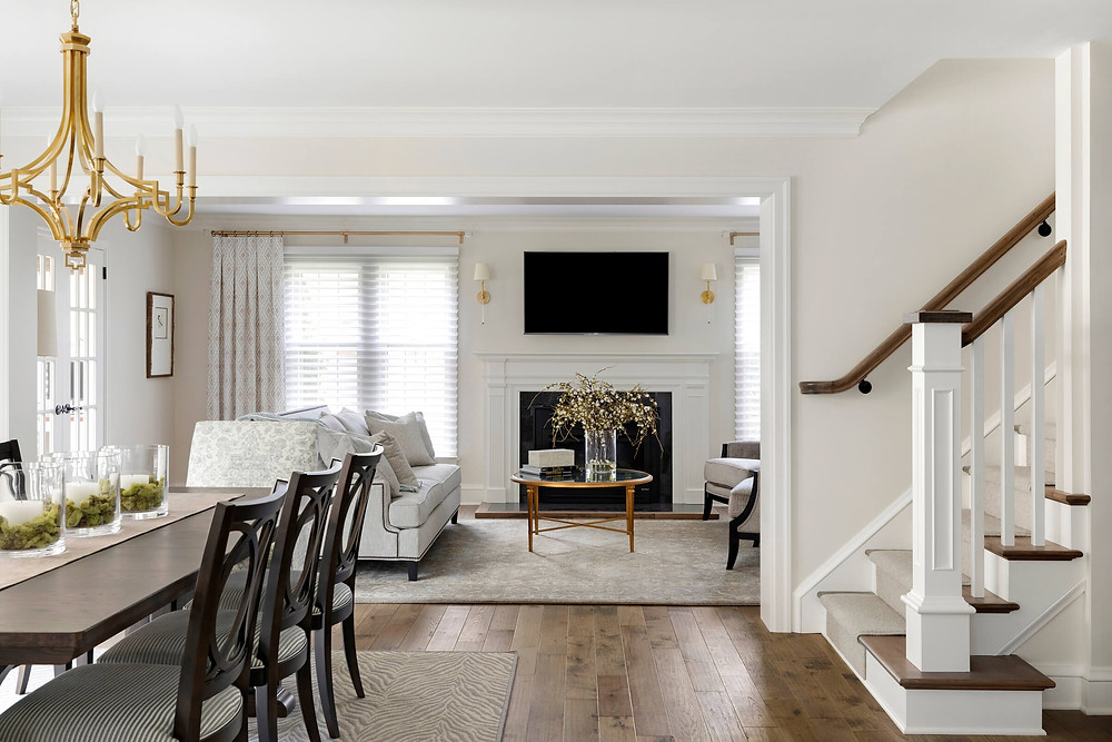 10 ways to add character to your home, add custom staircase and newel posts and treads.