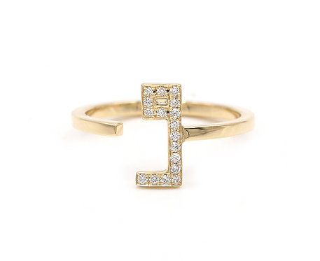 One Letter Ring- with Diamonds
