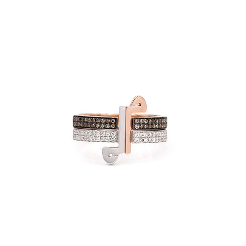 Thick Duo Rings- Diamonds on the Bands