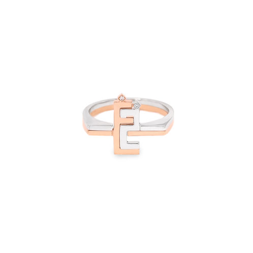 Thin Duo Rings with Flat Tops/ Two characters