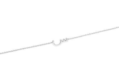 Chain Bracelet- Plain One Letter