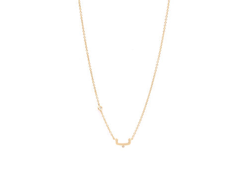 One Letter Necklace- With a diamond  sparkle