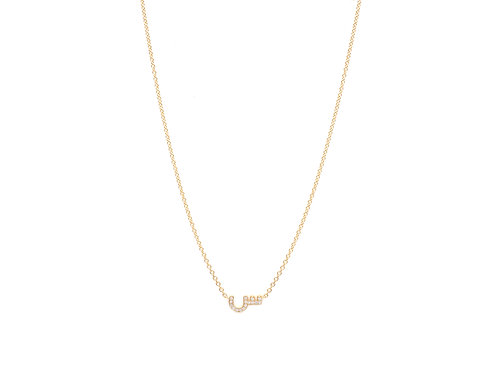 One Letter Necklace- With Diamonds