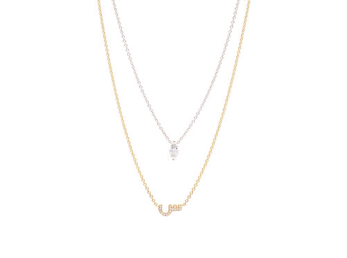 Letter with a Solitaire Necklace