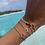 Thumbnail: Enamel - One Letter Chain Bracelet