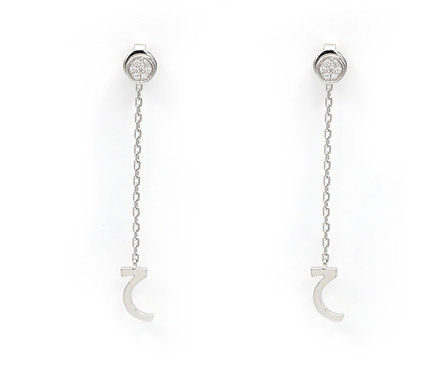 Letter Chain Earring Set