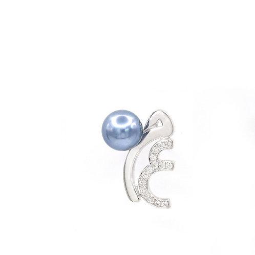 Letter Pearl Drop Earring/ One Side