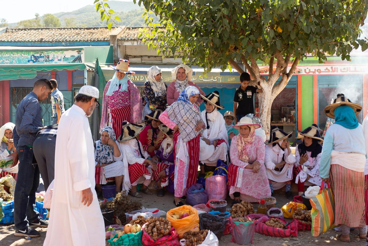 Colorful Moroccan market
