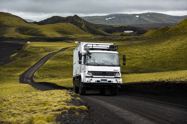 Iceland - Rental trucks with Bliss Mobil unit