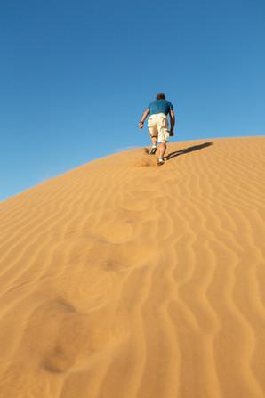 Up the dune top - Afrika 2018