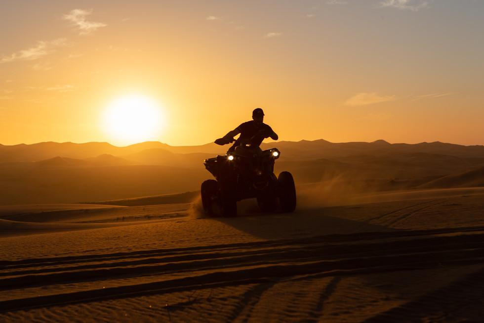 Quad driving Namib Desert -Afrika 2018