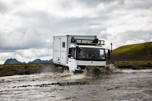 Iceland - Rental truck with Bliss Mobil unit
