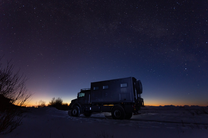 Mercedes Benz Zetros - Starry night