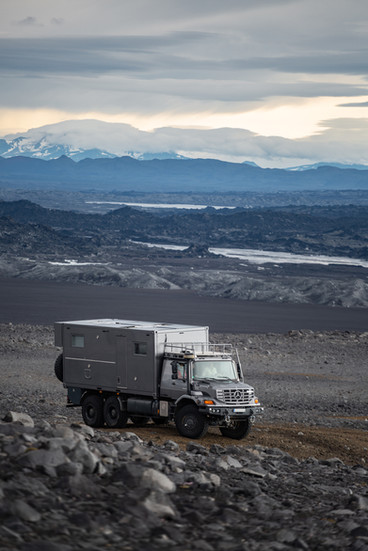 Iceland - Mercedes Benz Zetros with Bliss Mobil unit
