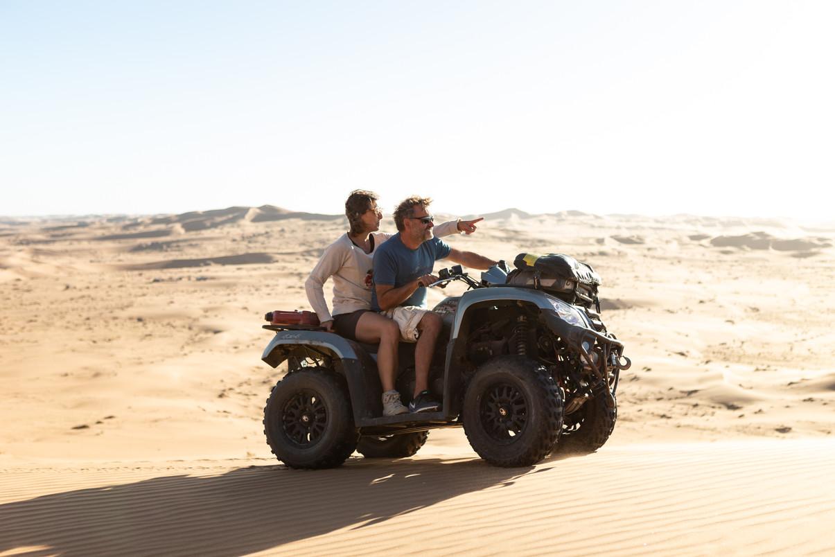 Quad driving Namib Desert - Afrika 2018