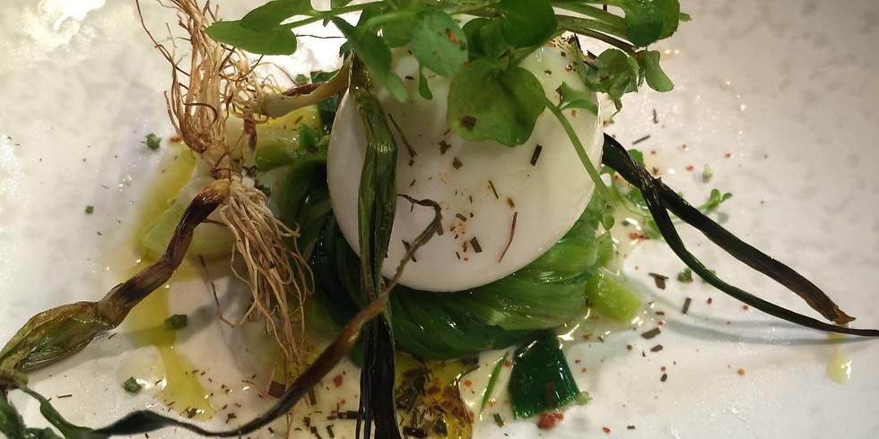 Egg in a Leek Nest