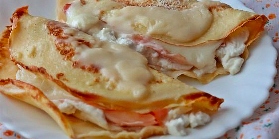 Crespelle with Ham and Ricotta Cheese