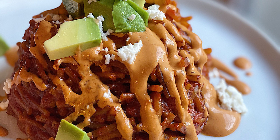 Green Chicken Enchiladas and Fideo Seco