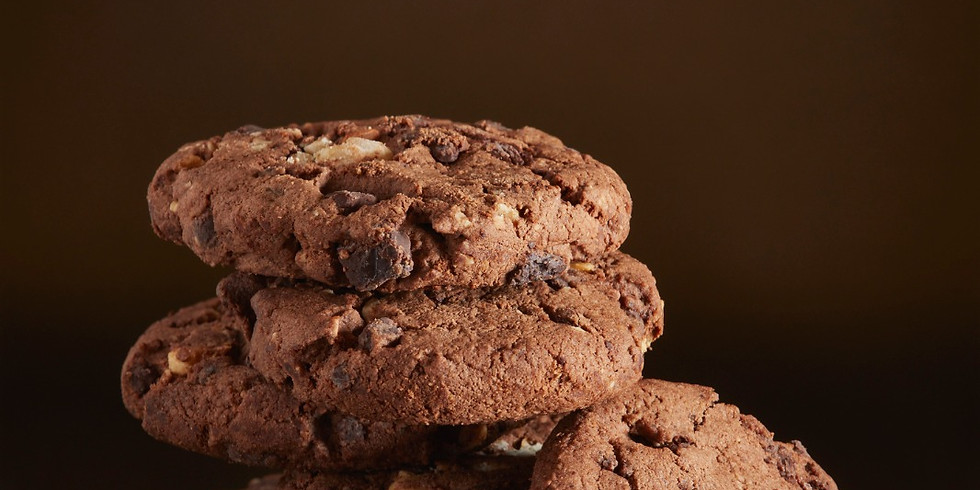 Olive Oil, Hazelnuts and Chocolate Cookies