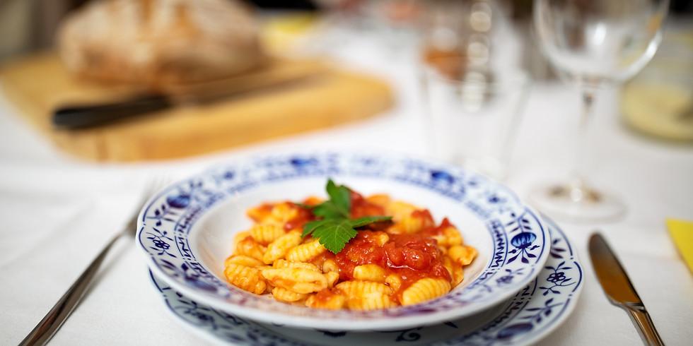 Homemade Cavatelli Pasta with Marinara Sauce