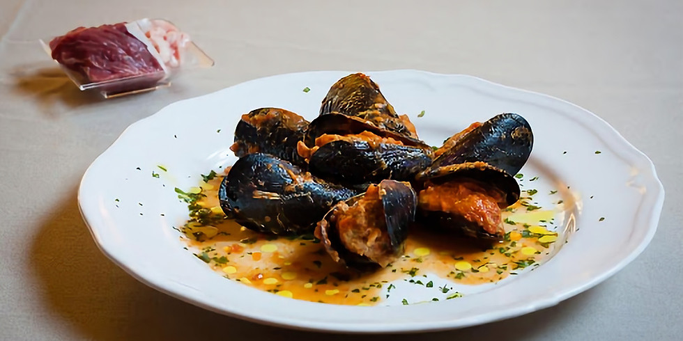 Peppered Mussels at Sunset