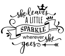 She leaves a little sparkles