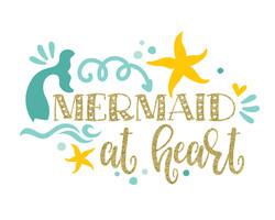 mermaid at heart 8x10