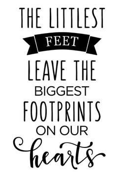The littliest feet leaves foot prints