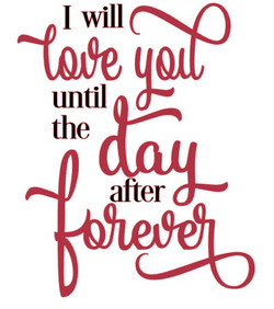 I will love you until the day