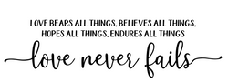 LOVE NEVER FAILS png