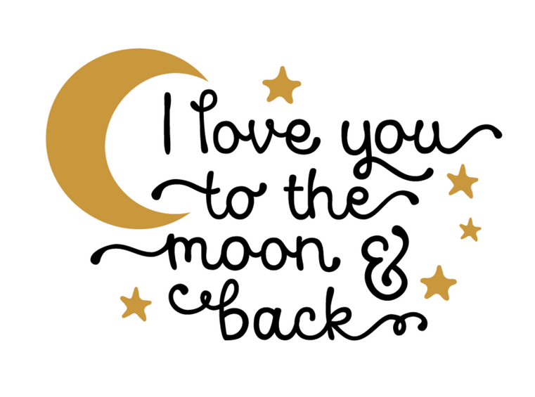 I LOVE YOU TO THE MON AND BACK