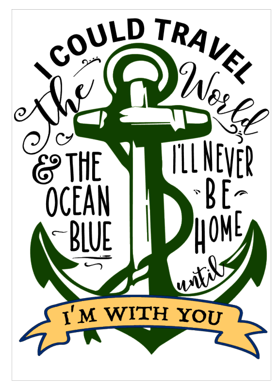 I COULD TRAVEL (ANCHOR)