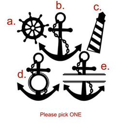 Sea life monogram