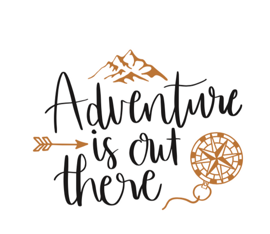 ADVENTURE IS OUT THERE COMPASS