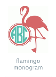 monogram flamingo