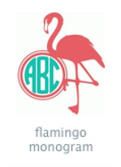 monogram flamingo