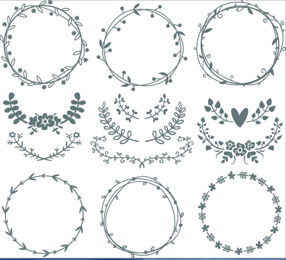 Circle Monogram Frames