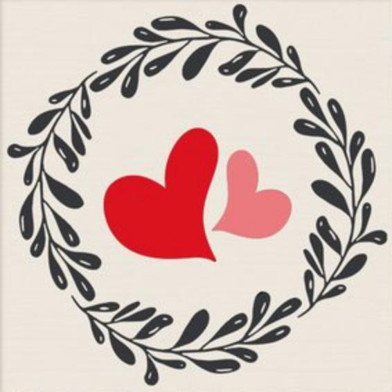 HEARTS & WREATH