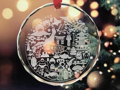 Japan Adventures Laser Engraved Christmas Ornament