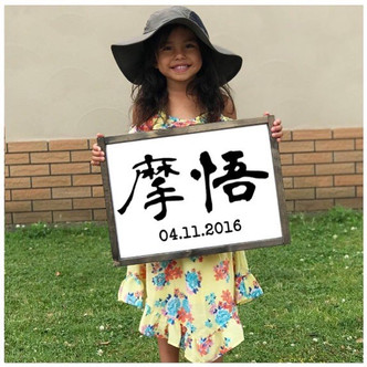 Name in Kanji with birthday