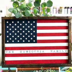 Personalized Flag of USA