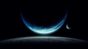 space-illustration-with-moon-and-planet-